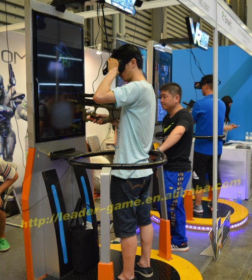 Amusement VR Gun Shooting VR battle standing machine