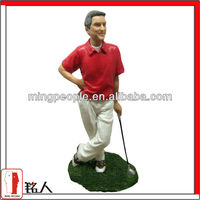 custom resin golf player action figure