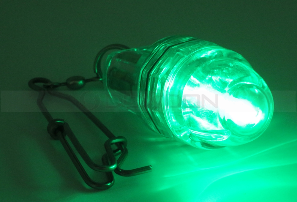 Green Night LED Underwater Boat Fishing Fish Lure Lights