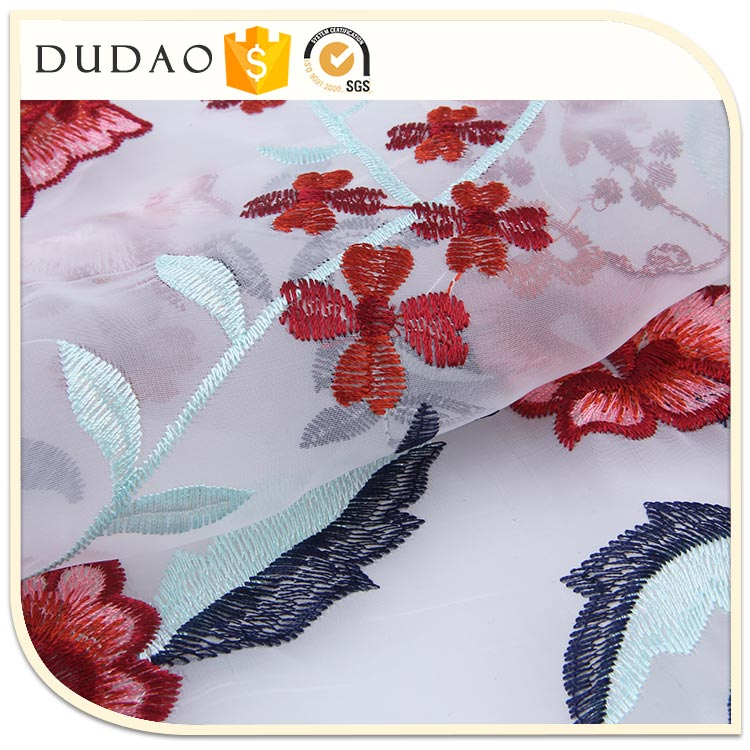 Best Selling Fashion Floral Design sequin embroidery mesh fabric