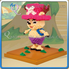 Mini Qute LNO kawaii LNO kawaii anime one piece chopper plastic puzzle cartoon mouse model children gift educational toy