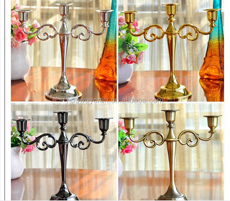 Metal gold centerpiece stands table wedding