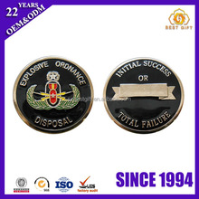 Black Enamel Painted Souvenir Alloy coin