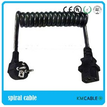 H05BQ-F 3*1.5 coil cord with euro industrial plug