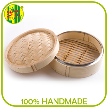 Eco-Friendly Bun Bamboo Food Steamer with One Cover