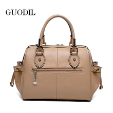 new style fashion no brand real leather handbags for women