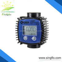 Singflo hydraulic oil flow meter/fuel oil flow meter/ accurate flow meter with battery