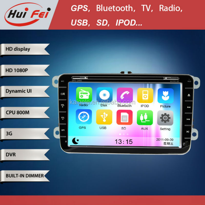 huifei Wince car GPS Navigation with steering wheel control,3G,Wifi for VW Scirocco(2008-2011),Golf 5(MK5) 2005-2009