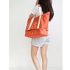 Multi-Layer Spacious Women's Casual Canvas Travel Tote Shoulder Bag