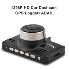 Super HD 1296P H.264 ADAS Ambarella A7 GPS Car DVR 170 Degree Angle View dash cam
