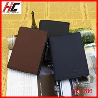 2014 Newest Style Men'S replica Leather Purses And Card Holder with inner zipper coin pouch