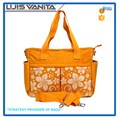 600D Polyester Diaper Handbag Orange Baby Diaper Bag