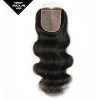 Online Sale Excellent Qulaity Free Parting VV 10 Inch Virgin Human Hair Body Wave Brazilian Hair Closure