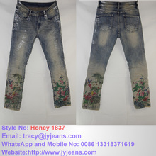 denim jeans woman mid blue good fitting competitve price