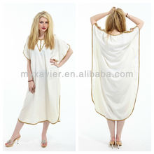 White embroidered dress moroccan kaftans for sale(S3073)