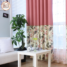 Curtain drapes for bay windows modern style solid color linen sheer window curtain