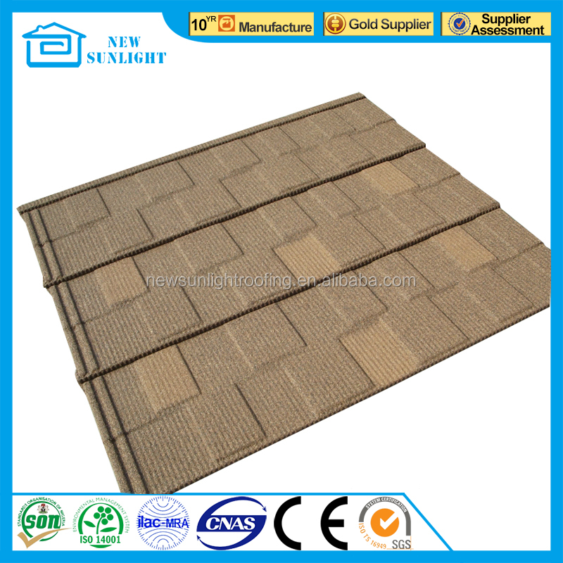 villa house corrugated color stone coated steel roof tile