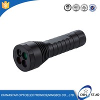 Trade Assurance aluminum flat lens led hiking flashlight