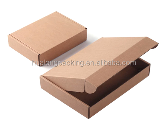 Recycled brown corrugated folding cardboard box