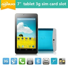 Cheapest 7 inch tablet pc 3g sim card slot MTK6572 Dual core