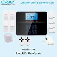 DIY LCD Touch Keypad smart Home Security GSM+PSTN Alarm System support recording platback