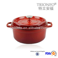 Hot sale Trionfo red enamelled cast iron pot