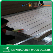 slotted MDF board/slat wall panel/slot board