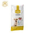 Resealable big 10 kg three side plastic pet food packaging bag with zipper top
