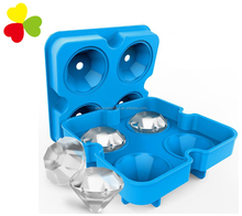 Amazon best sale silicone ice cube maker Diamond-Shaped silicone ice cube tray