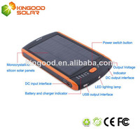 Best selling real capacity 23000MAH solar power bank charger with charging cable and 4 charger plugs