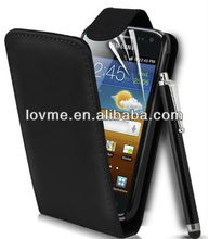 cover case for Samsung Galaxy Ace 2 I8160 Black Top Flip Leather Case
