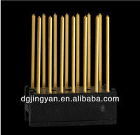 Customed made brass turning singal pins