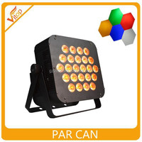 Best selling hot Chinese product 24*12w led flat par light / hot uplight/ dj stage light