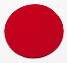 2015 laser cut colorful round shape felt coasters for gifts