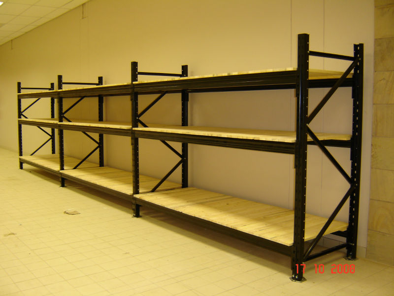 warehouse selective steel garage storage medium duty racks wood shelves