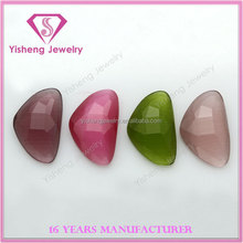 Colorful Loose Synthetic Cat Eye Random Cut Flat Back Polishing Stone