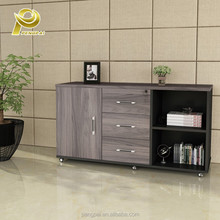 wholesale melamine office low storage cabinet with drawer design