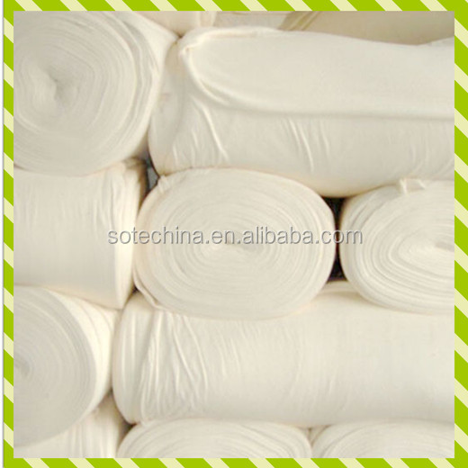 "P/V Ring Spun Air Jet Greige Fabrics - TR 65/35 21*21 92*48 64"" 1/1 Plain - polyester viscose grey fabric raw material"