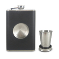 304 stainless steel leather hip flask 8 oz, leather stainless steel wine bottle