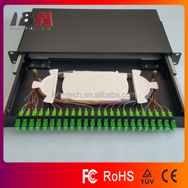19'' 24 port 1U SC APC fiber optical terminal box/ODF/patch panel