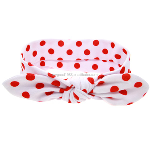 HAOXIE Fashion dot patten baby headband wholesale/hair elastic band/Girls' Hair Decoration