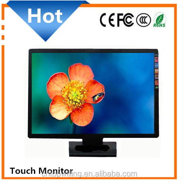 1920 x 1024 resolution 22 inch led touch screen monitors flat monitor waterproof and dust proof