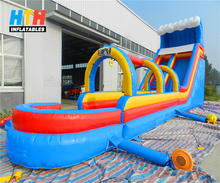 Promotional tropical PVC inflatable slip and slide for adults