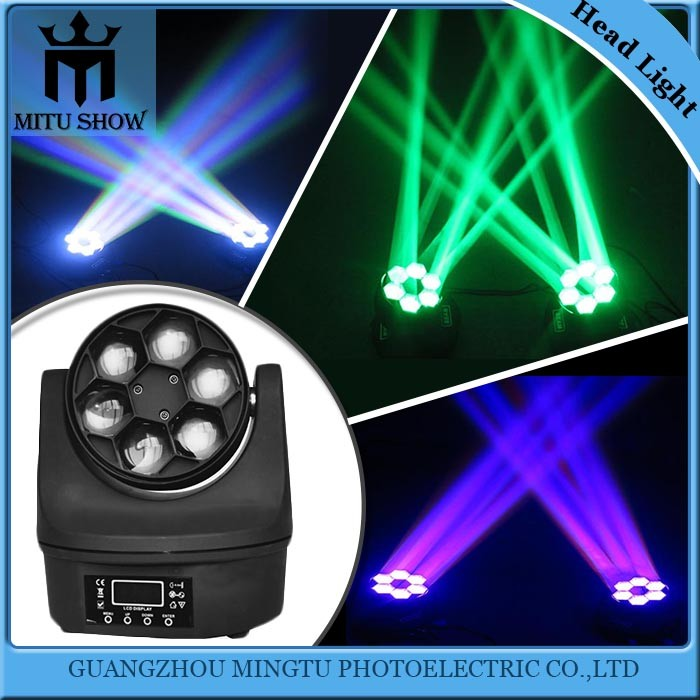 12watts 6 bee eye small led beam moving head light