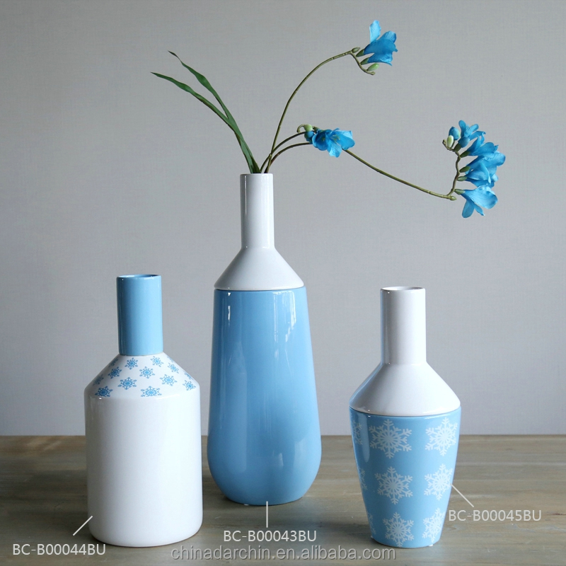 New arrival glazed ceramic flower vases home decor