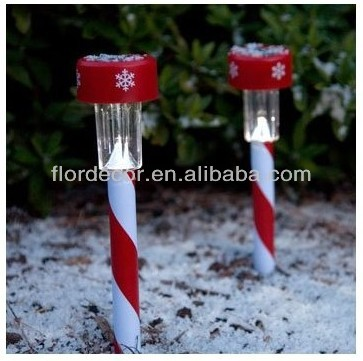 Solar Powered Color Changing Christmas Candy Cane Garden Lawn Light LED Christmas Decoration Solar Lawn Light Mult-color