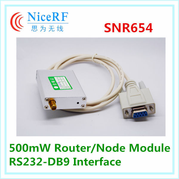 NiceRF SNR654 - 500mW 3km RF network router node module RS232-DB9 wireless data transmission module