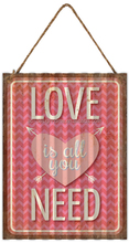 """LOVE"" CORRUGATED IRON WALL DECOR"