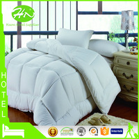 Wholesale Microfiber Hotel Polyester Cotton Duvets With Plaid Pattern