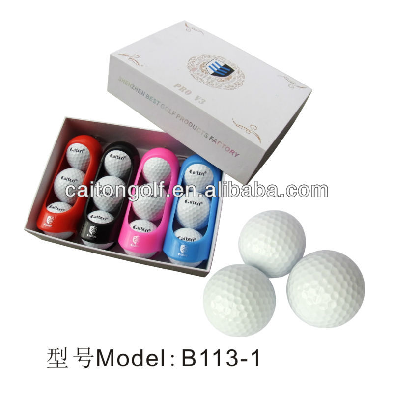 Manufacturer Custom Blank White Surlyn+Polyster Three Piece Tournament Golf Ball B113